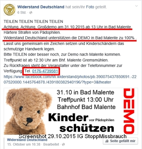 29.10.2015 Widerstand Deutschland