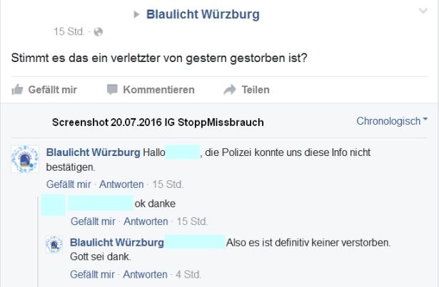 20.07.2016 Blaulicht Würzburg
